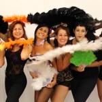 Fotos clase Abanicos Plumas Burlesque 20.9.14 Barcelona