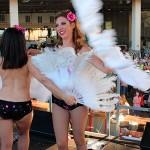 Geese Burlesque Girls en Fira Vintage Barcelona (6.6.15)